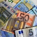 money, bank notes, euro notes